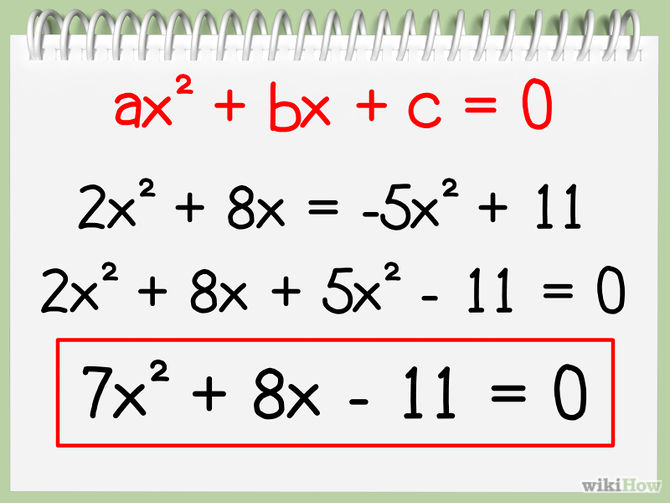 Example Of Quadratic Equation In Standard Form Divingexperience